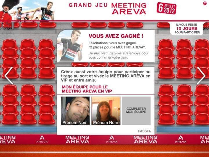 Jeu Facebook Areva meeting athlétisme