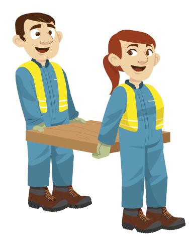 Illustration position de sécurité pour le transport du bois