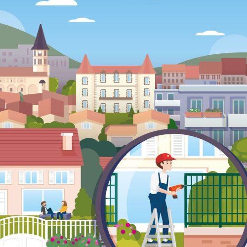 illustration pour la couverture du guide d'urbanisme de cournon d'auvergne