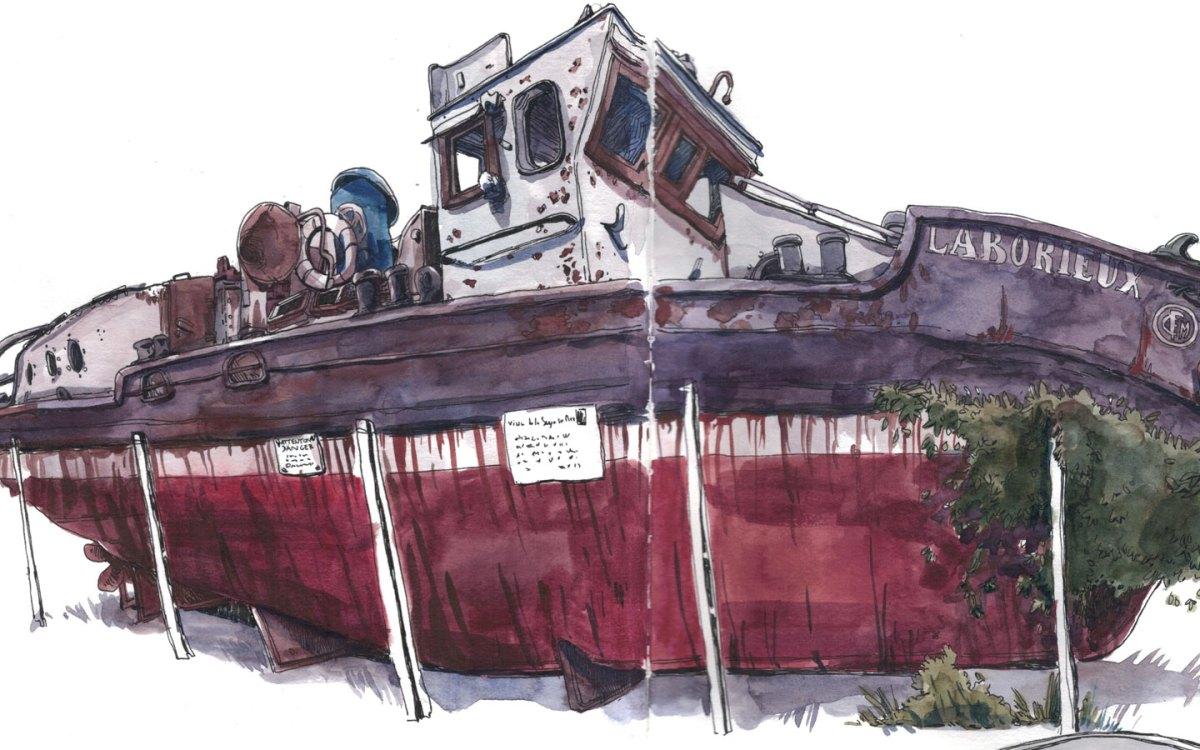 bannière du site sophienavas.fr bateau à l'aquarelle