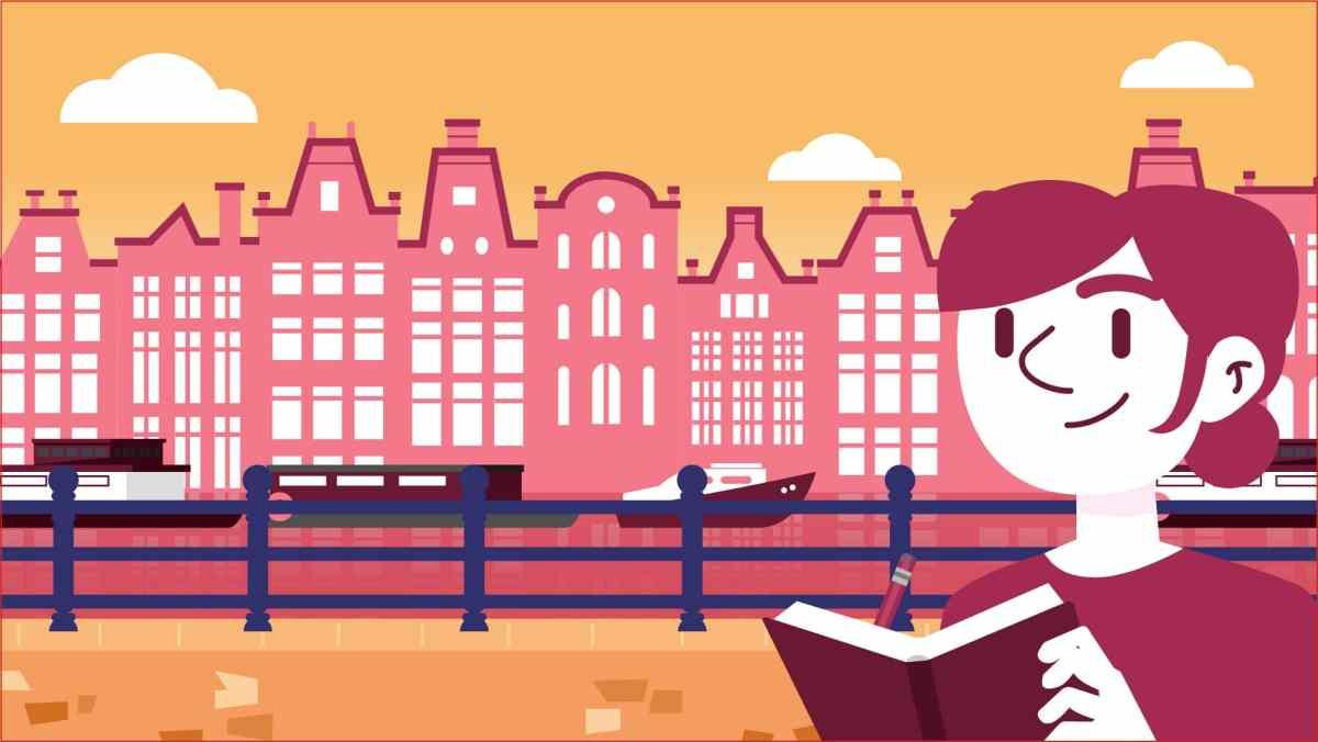 illustration carte de voeux amsterdam