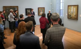 The director of Manchester Art Gallery, Dr Maria Balshaw opens the show, followed by a speech by the new director of the National Portrait Gallery London (from where the Van Dyck is on loan) Dr Nicholas Cullinan.