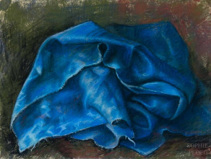 Blue Pile, Pastel on card, 25x30cm. Available
