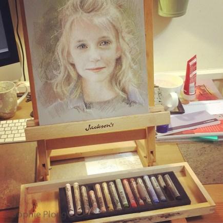 Sophie Ploeg Pastel Portrait