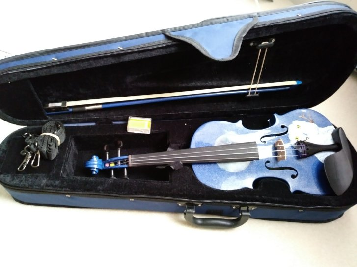 Rozanna's Violins: 1/2 Mystic Owl in Blue Outfit
