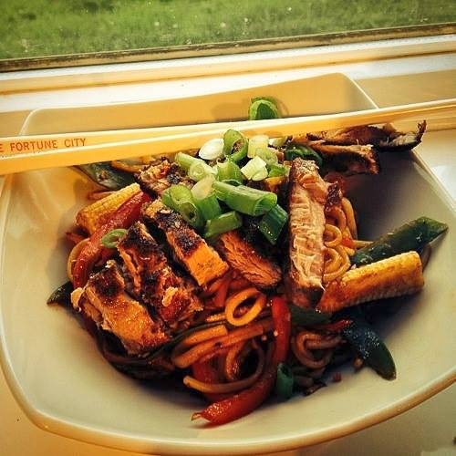 Easy Tuna Steak Stir-fry