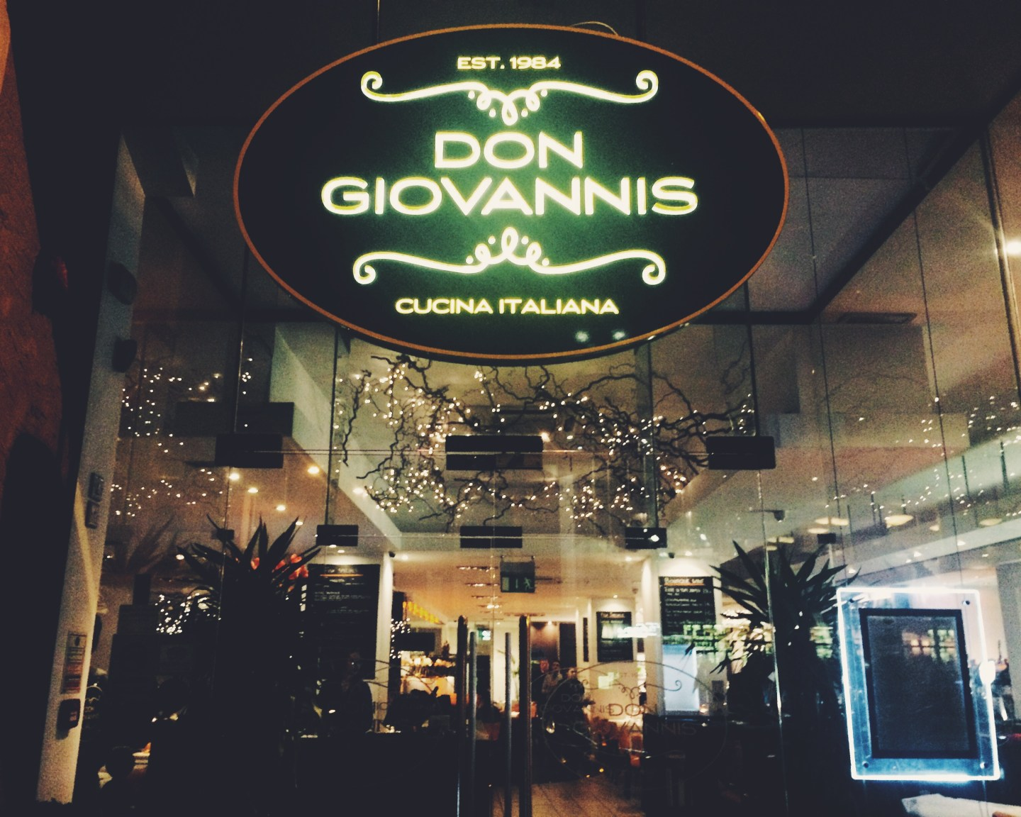Exclusive Tasting Evening at Don Giovanni's, Manchester