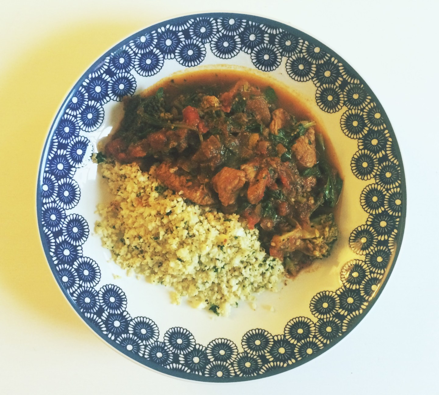 Lean Turkey Curry with Cauliflower 'Rice'