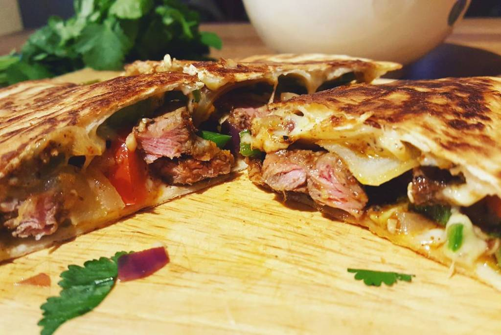 steak quesadilla recipe food blogger