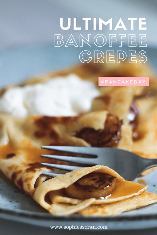 pancake day recipe - banana crepes - food blog sophie's scran