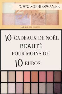 10 cadeaux de Noël beauté pour moins de 10€