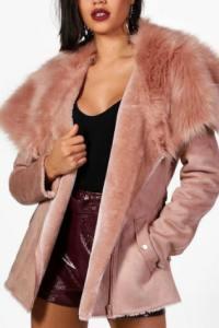 Sélection #1 : BOOHOO – Manteaux en fausse fourrure pour l'hiver