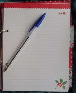 Cath Kidston Christmas Organiser To Do Page