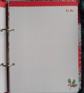 Cath Kidston Christmas Organiser To Do Page Squared