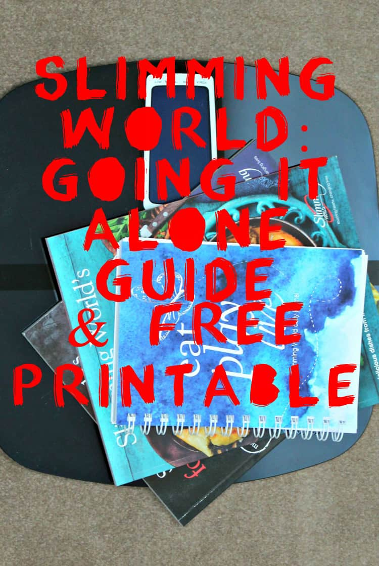 Slimming world going it alone guide free printable soph obsessed I love slimming world