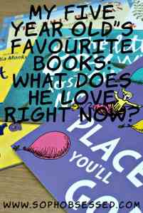 My Five Year Old's Favourite Books: What Does He Love Right Now?