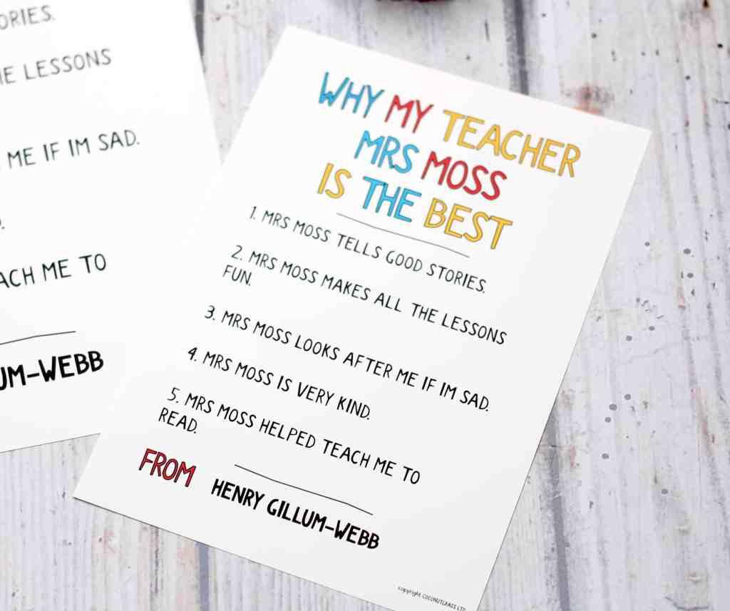teacher gift