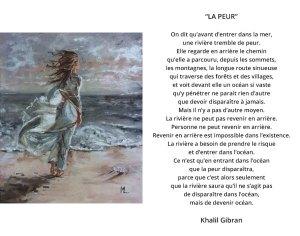 la peur Khalil Gibran