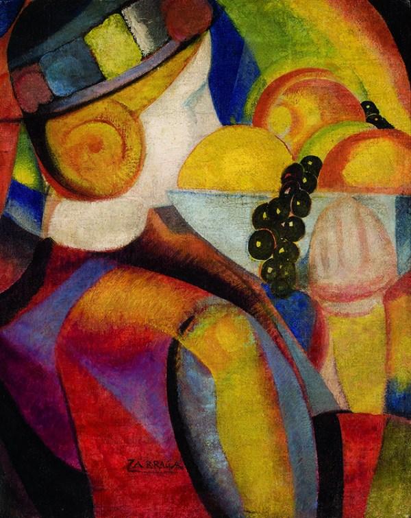 angel Zarraga Muchachita con frutas