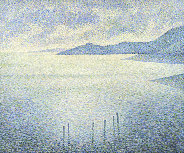 Full title: Coastal Scene Artist: Théo van Rysselberghe Date made: about 1892 Source: http://www.nationalgalleryimages.co.uk/ Contact: picture.library@nationalgallery.co.uk Copyright © The National Gallery, London