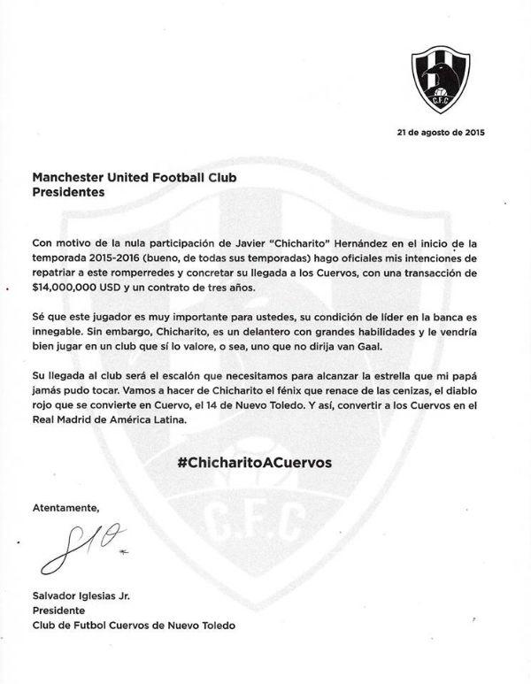 comunicado_chicharito_clubdecuervos