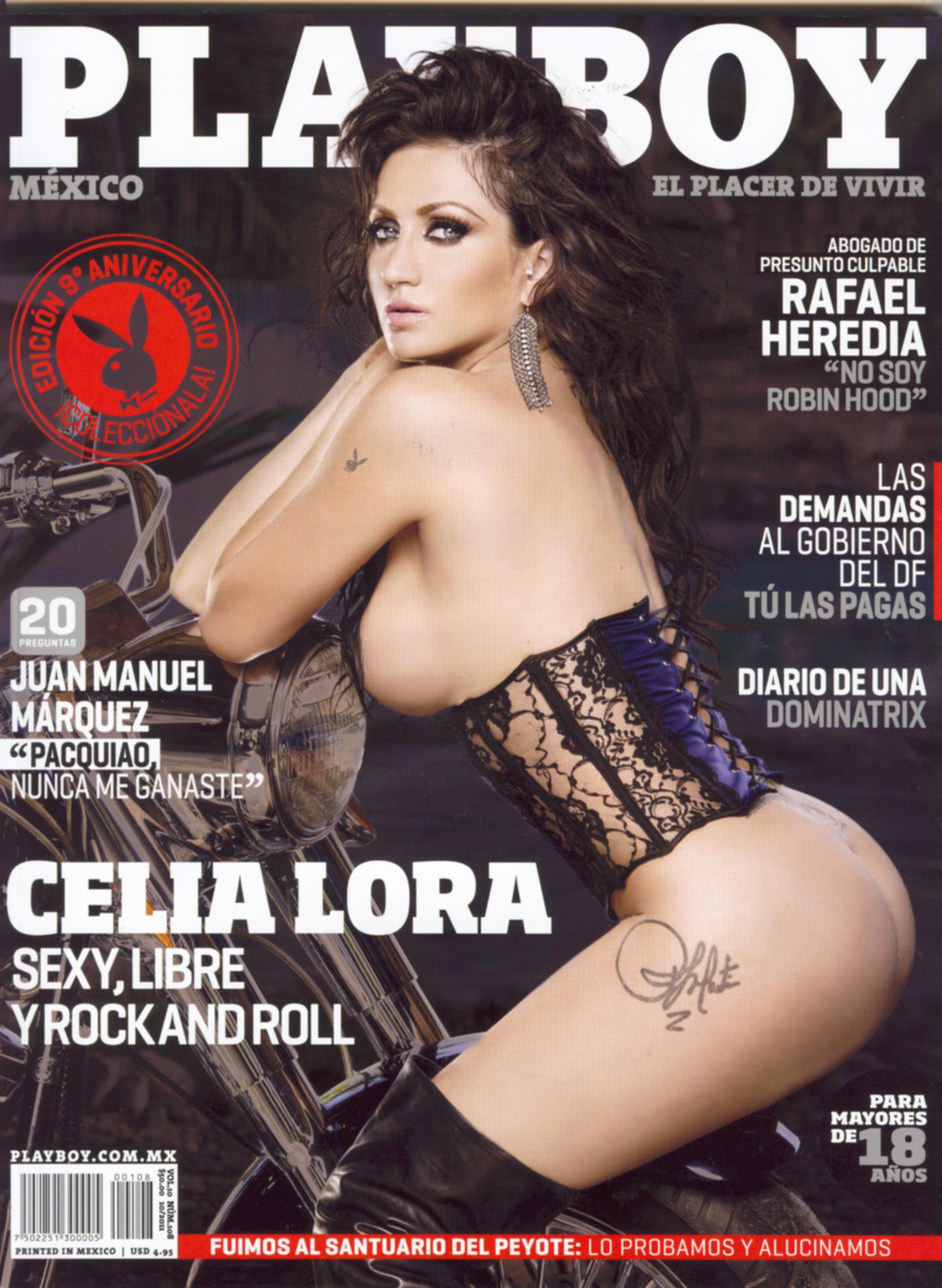 Celia Lora se desnuda para Playboy