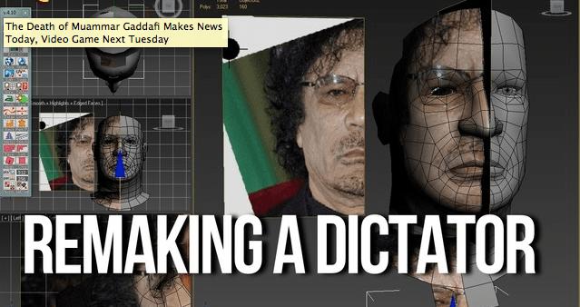 Habrá un videojuego sobre la muerte de Gadafi