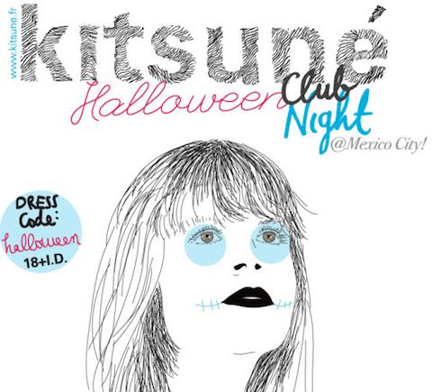 Cortesías gratis gratis gratis para la Kitsuné Halloween Club Night