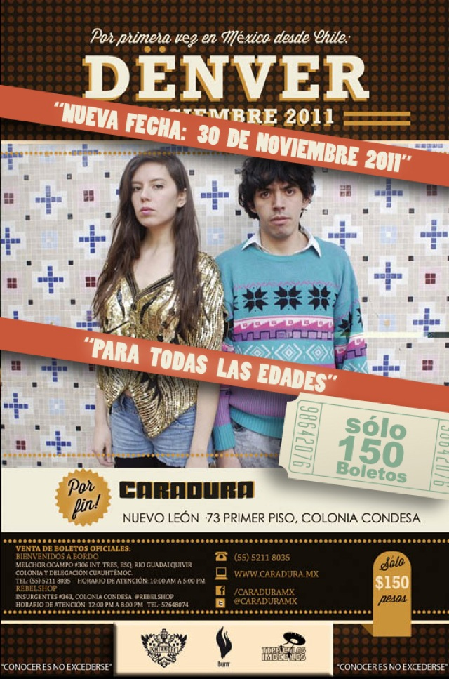 ¡Boletos gratis para la nueva fecha de Dënver en México!