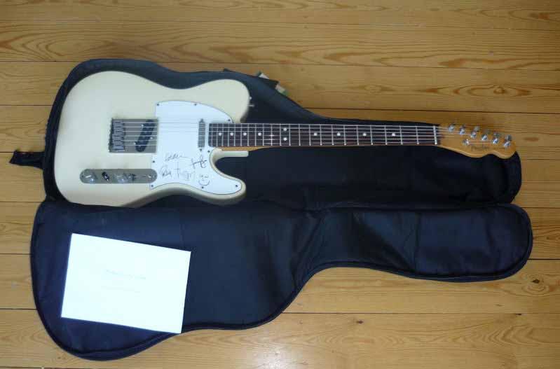 Radiohead subasta su Fender Telecaster