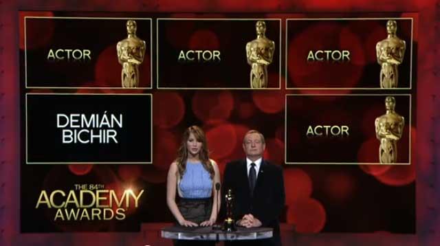 Demián Bichir nominado al Oscar y el resto de las categorias