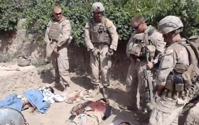 Investigan video de soldados norteamericanos orinando sobre cadáveres