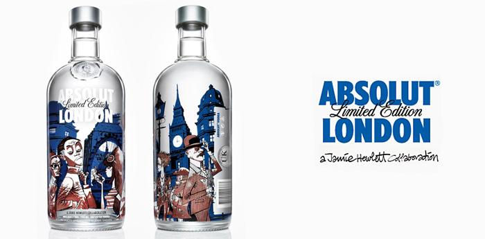 Jamie Hewlett diseña botella de Absolut