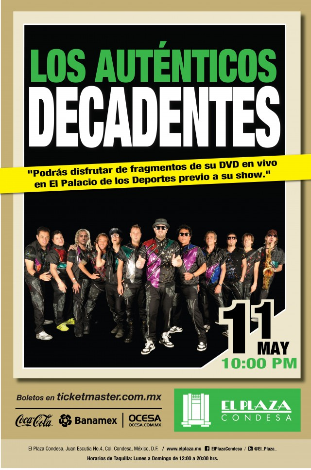 Los Auténticos Decadentes de gira por México