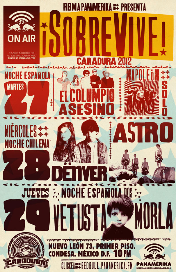 After-Latino: Columpio Asesino, Napoleón Solo, Astro, Dënver y Vetusta Morla en el Caradura