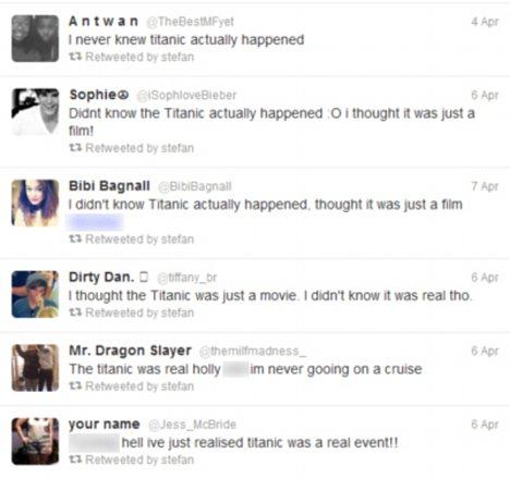 Pensaban que el Titanic, sólo era una película