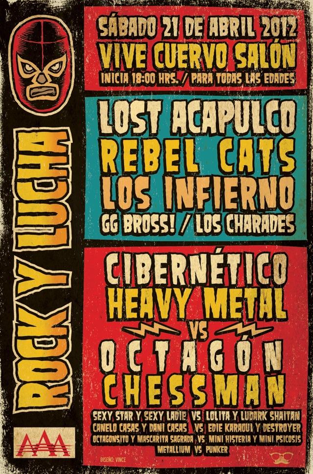 ¡Boletos gratis para Rock y Lucha!