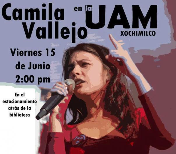 La líder estudiantil Camila Vallejo, viene a México se suma a #YoSoy132