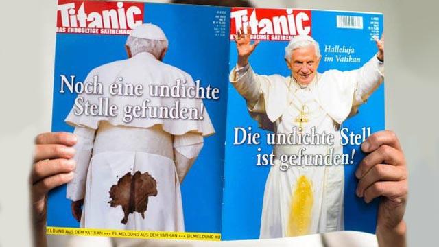 Prohíben sátira de Benedicto XVI en Alemania