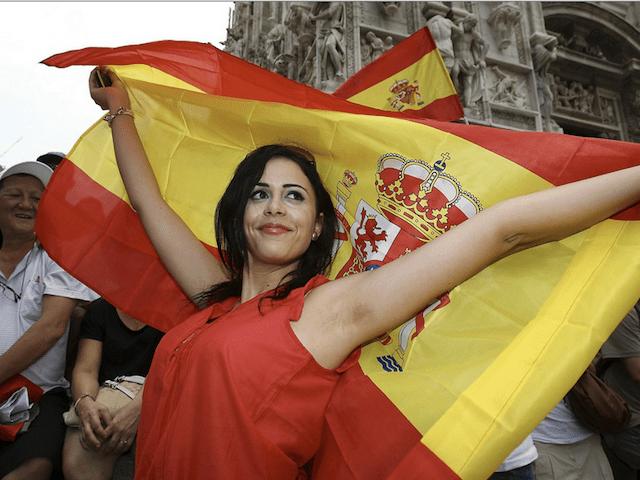 Aficionadas de España ¿Las más guapas de la Euro 2012?