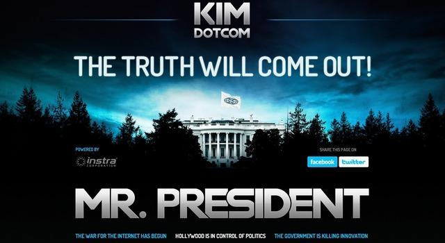 Kim Dotcom lanza una campaña en contra del gobierno de Obama
