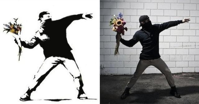 Banksy recreado en carne y hueso en