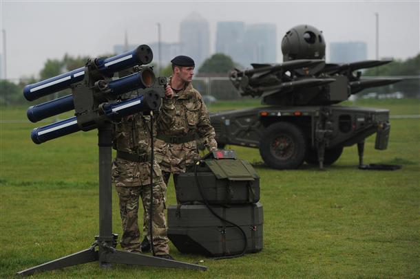 A eso se le llama seguridad... Misiles en Londres 2012