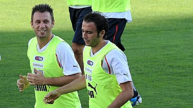 Cassano al Inter y Pazzini al Milan