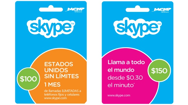 Las tarjetas de Skype llegan a México