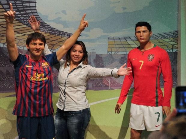 Messi y Cristiano Ronaldo, juntos en el museo de cera en Londres