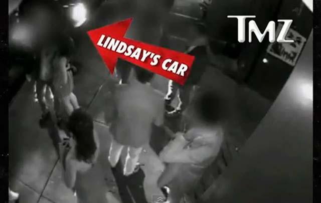 Video: Lindsay Lohan golpea con su auto a un hombre