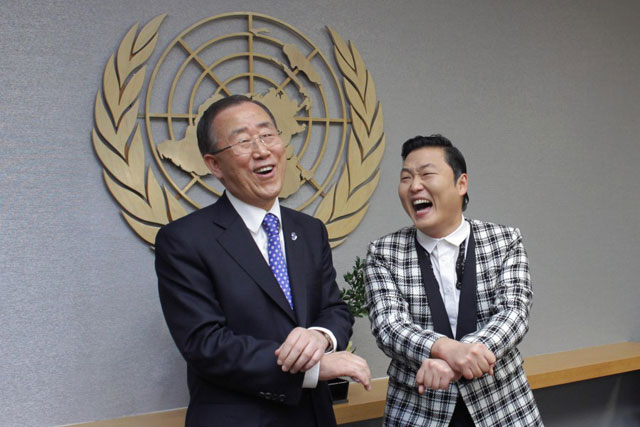El Secretario General de la ONU baila el Gangnam Style