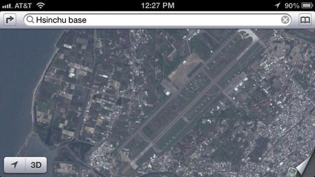 Los mapas de Apple revelan una base militar secreta en Taiwán