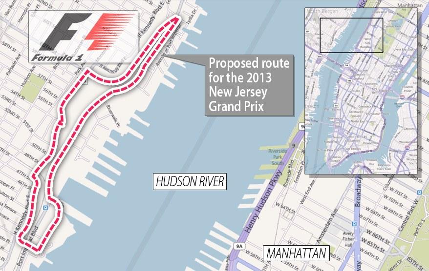 El GP de New Jersey será hasta el 2014